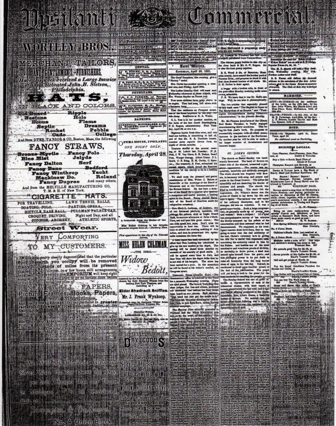 A newspaper notice of Delilah's wedding